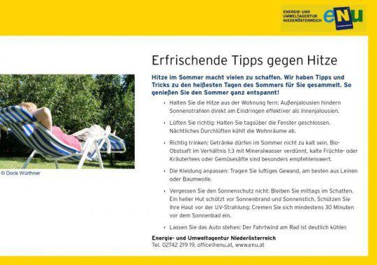 Tipps Gegen Hitze : erfrischende tipps gegen sommerhitze umweltgemeinde ~ A.2002-acura-tl-radio.info Haus und Dekorationen